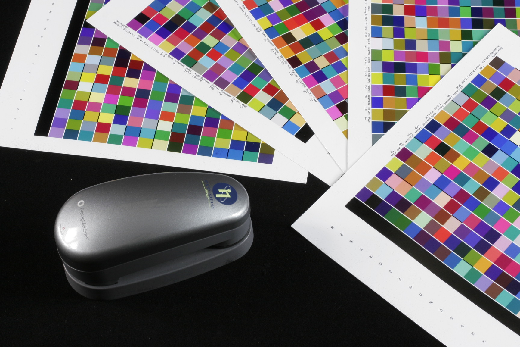 spectrophotometer, color swatches